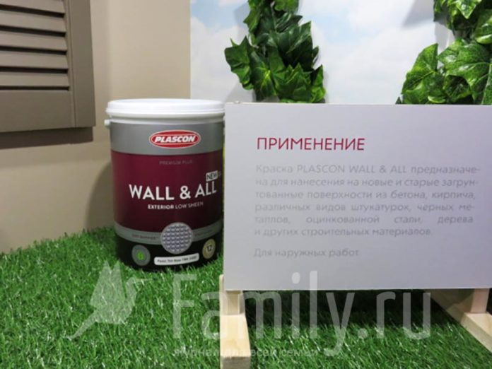 Фасадная краска Plascon Wall & All