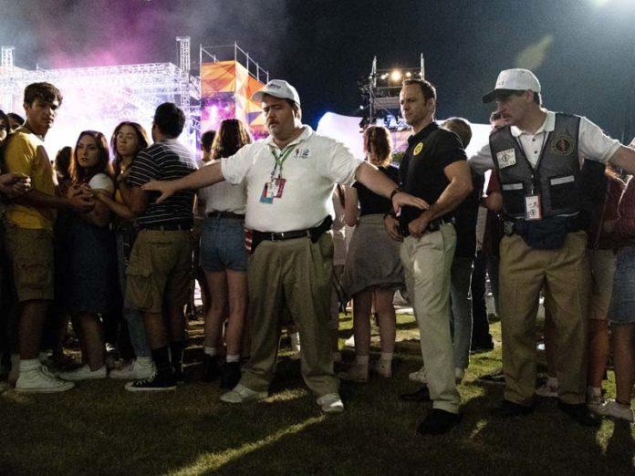 Охранник на стадионе в Атланте