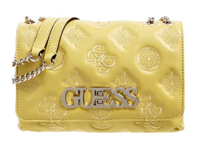 Желтая сумка Guess