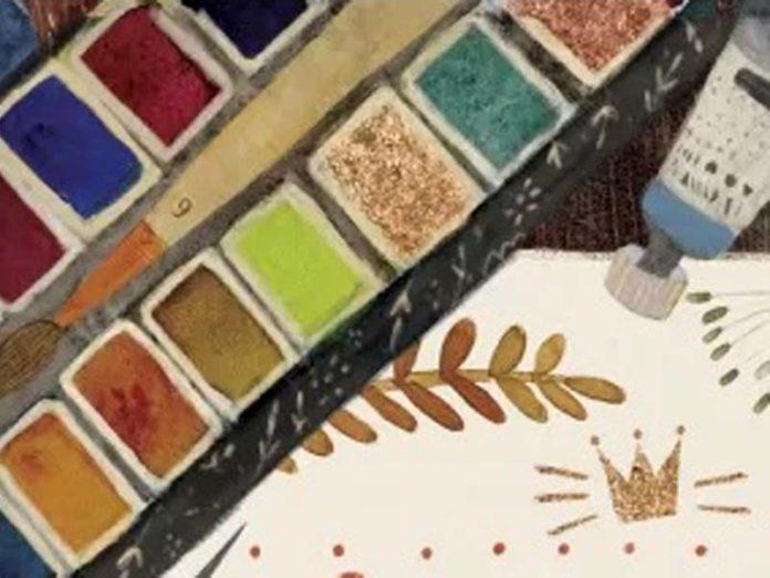 Краски в палитре
