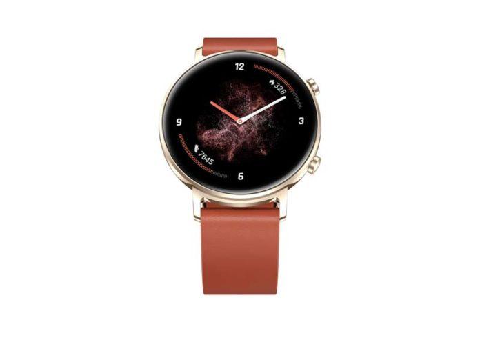 Huawei Watch GT 2 с коричневым ремешком