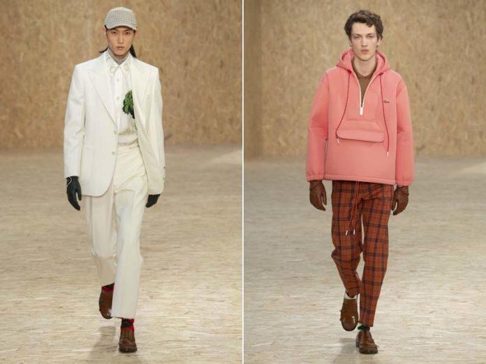 Мужчины в белом и розовом
