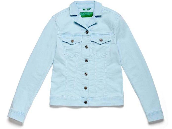 Джинсовая куртка мятного цвета
