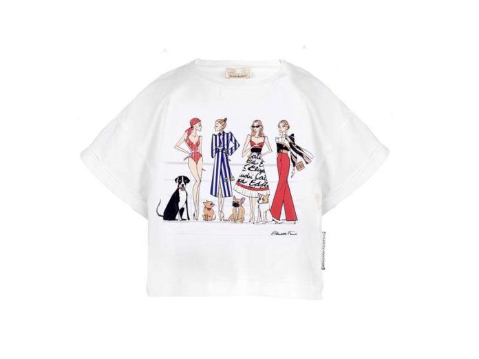 Летняя футболка для девочки Elisabetta Franchi