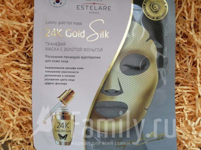 Тканевая маска с золотом Institute Estelary