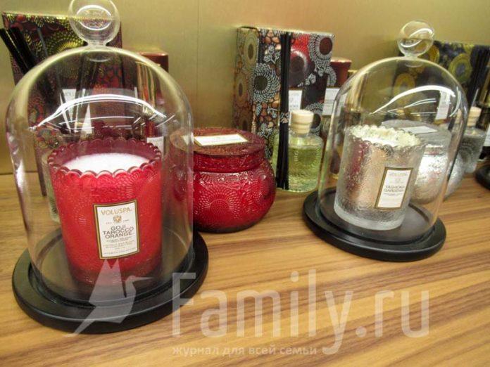 Ароматические свечи и спреи для дома