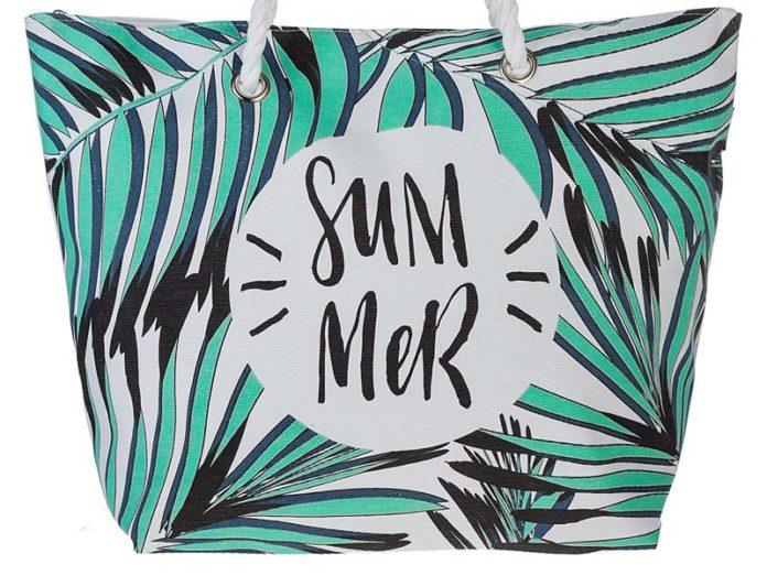 Пляжная сумка из текстильного материала