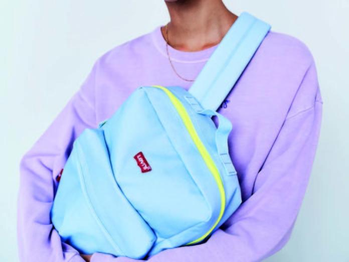 Рюкзак Levi's голубого цвета