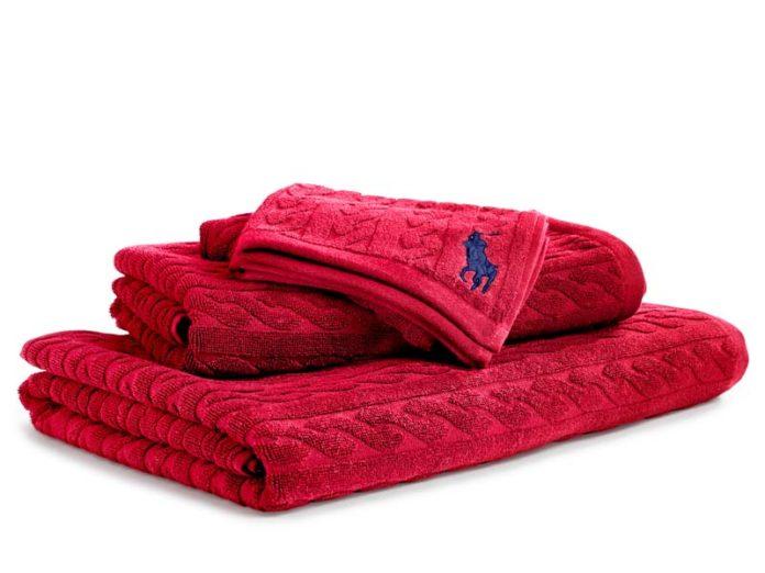 красные полотенца Ralph Lauren Home