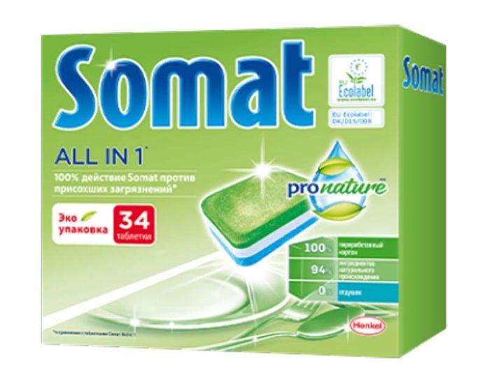 Таблетки для посудомойки Somat Pro Nature