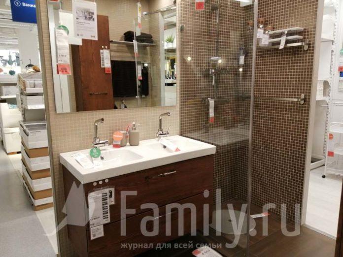 Зеркало в ванную из Икеа