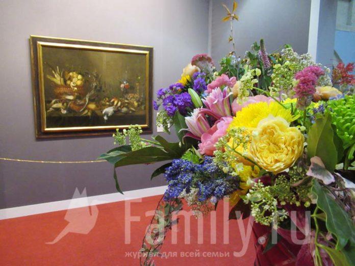 Натюрморт и букет цветов