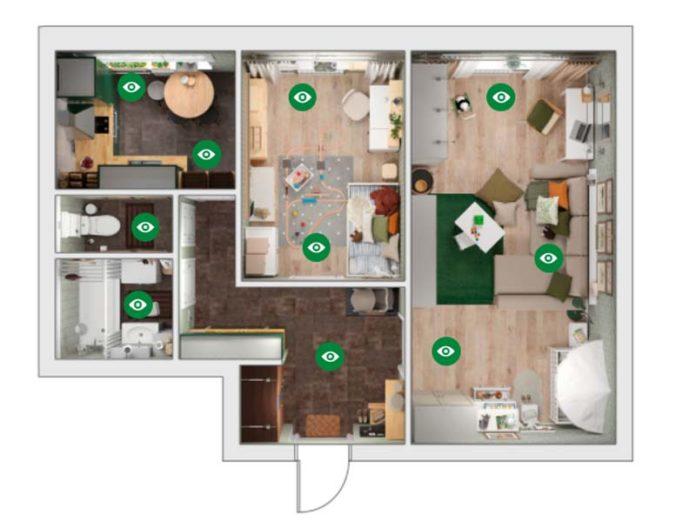 Дизайн-проект для 2-х комнатной квартиры