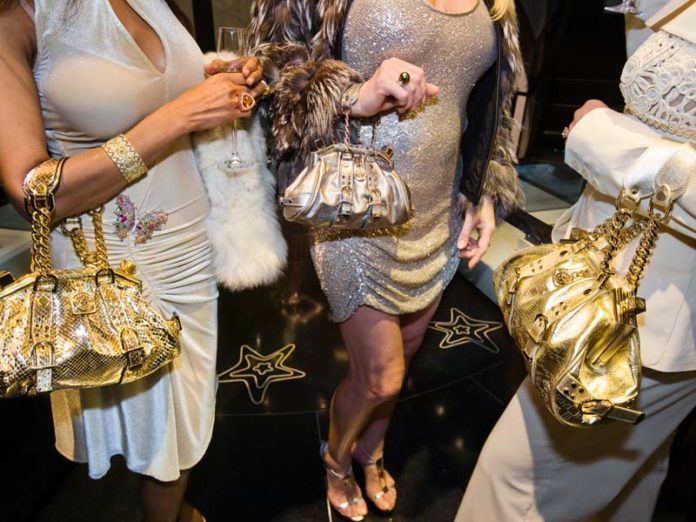 Золотые сумочки Versace