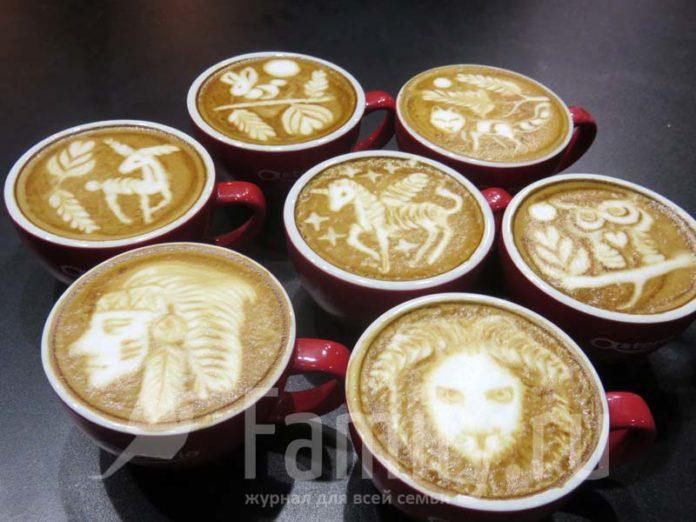 Чашки капучино с рисунками