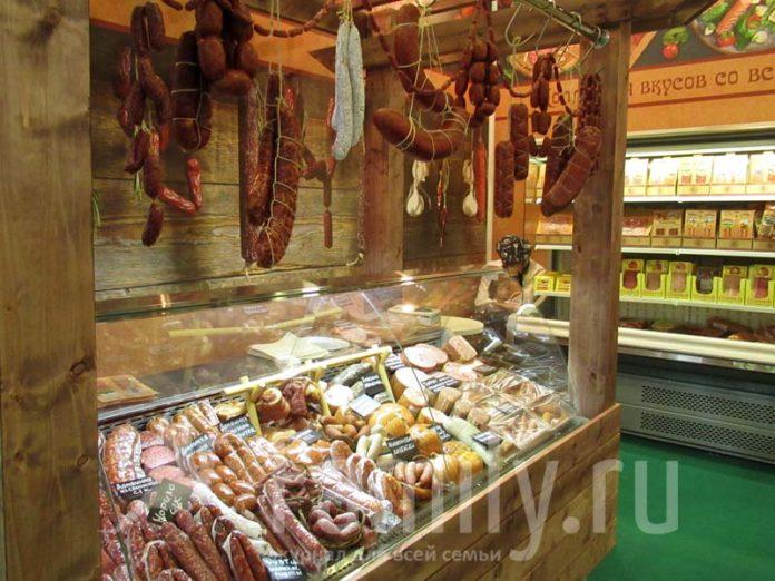Колбасы и копчености на выставке