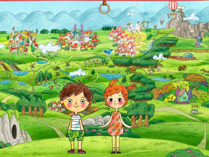 Мальчик и девочка на картинке