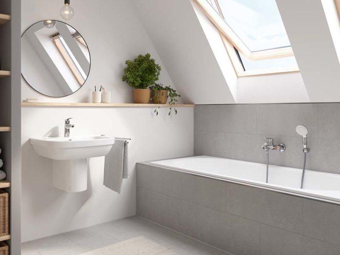 Простая и стильная ванная комната