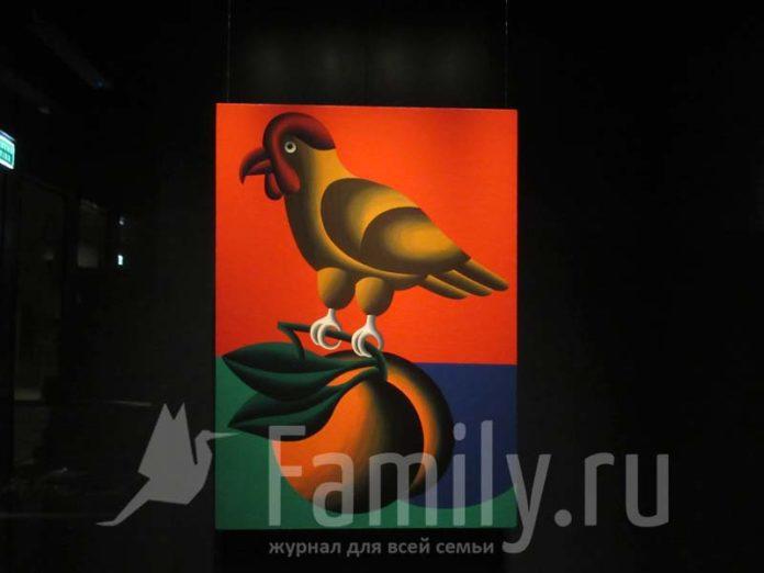 Натюрморт с птичкой