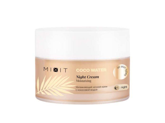 Ночной крем для лица с кокосовой водой Mixit