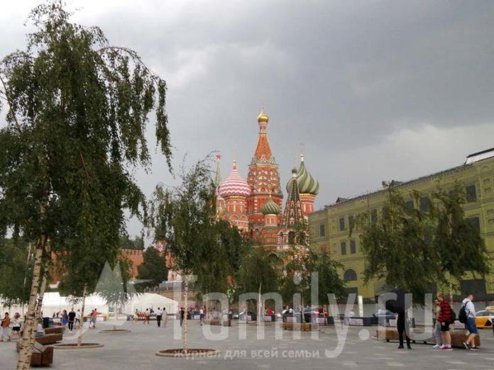 Вид на Храм Василия Блаженного