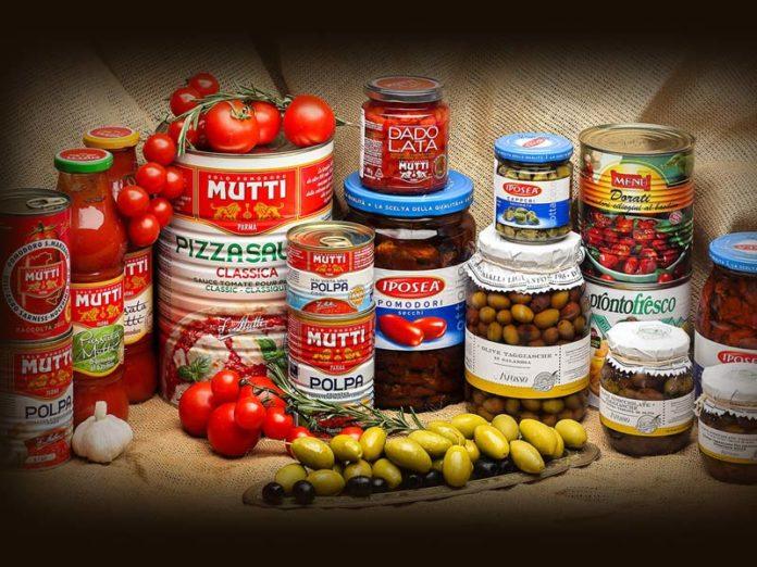 Помидоры и консервы из Италии